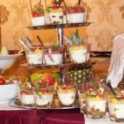 Präsentation der Desserts