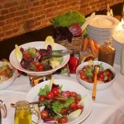 Salatbuffet bei einer Party