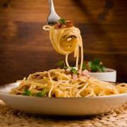 Italienische Pasta Spezialität: Spaghetti alla Carbonara